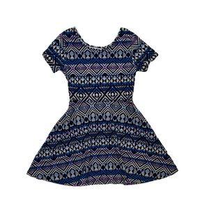 Children's Place Geometrical Print Dress L(10-12)